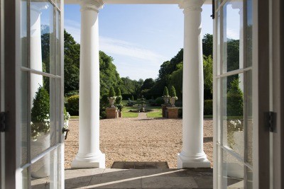 Bawtry Hall Wedding Venue View from Inside- Yorkshire