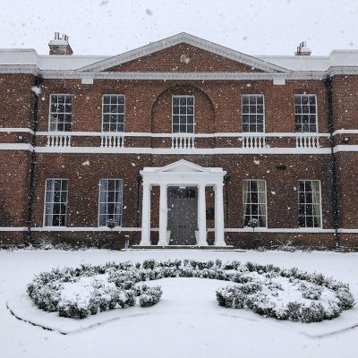 Bawtry Hall in the Snow
