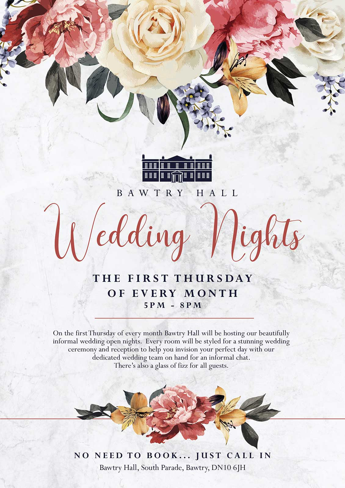 Bawtry Hall Wedding Open Nights