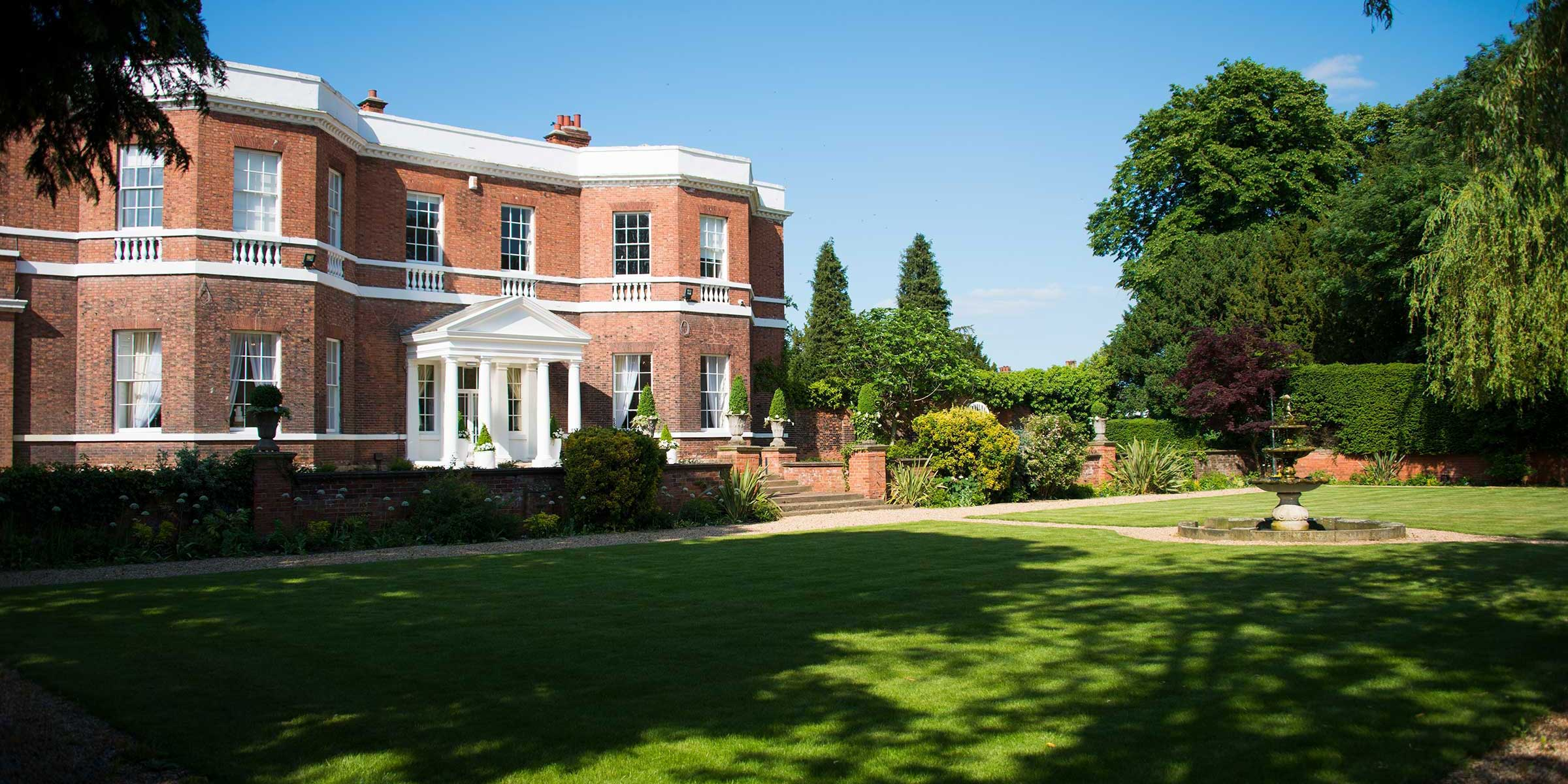Bawtry Hall Wedding Venue Yorkshire- Gardens