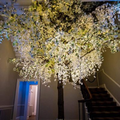 Giant Blossom Tree installed inside Bawtry Hall