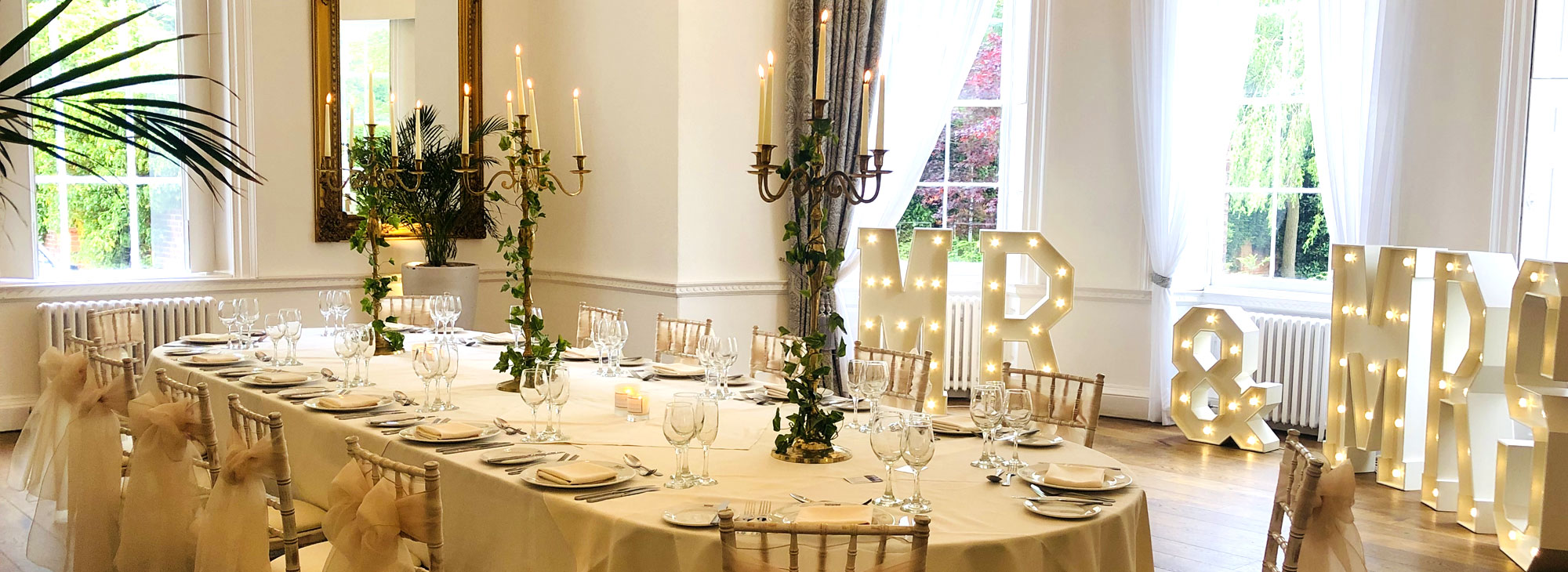 Small & Intimate Wedding Venue on the South Yorkshire and Nottinghamshire border