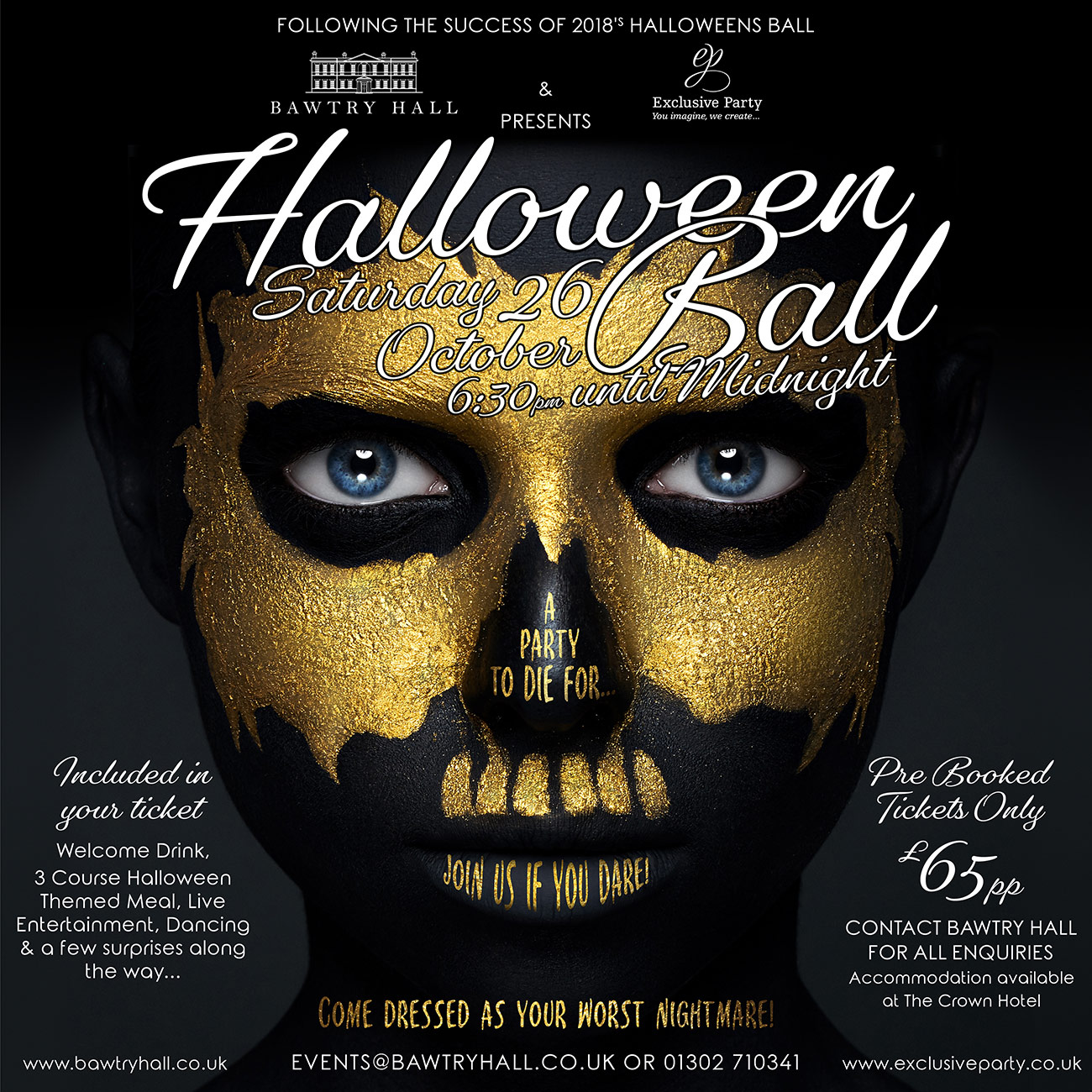 Bawtry Hall Halloween Party - doncaster